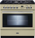 Rangemaster Professional+ FXP 90 Dual Fuel Range Cooker - Cream, Cream