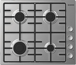 HHW6LCX Gas Hob - Silver, Stainless Steel