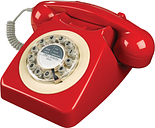 WILD & WOLF 746 Corded Phone - Phone Box Red, Red