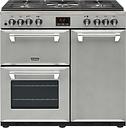 STOVES Ellingwood 90DFT MET SV 90 cm Dual Fuel Range Cooker - Metallic Silver, Silver