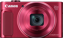 Canon PowerShot SX620 HS Superzoom Compact Camera - Red, Red