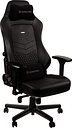NOBLE CHAIRS HERO Real Leather Gaming Chair - Black, Black