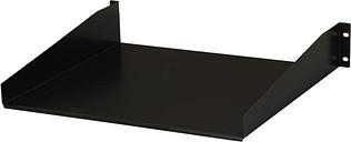 StarTech.com CABSHELF 2U Black Standard Universal Server Rack Cabinet Shelf