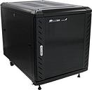 StarTech.com RK1236BKF Portable Server Rack Cabinet - 12U Server Rack - 36 in - with Glass Door - Network Cabinet - Rolling Server Rack with Casters