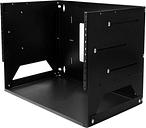 StarTech.com 4U Wall-Mount Server Rack with Built-in Shelf - Solid Steel - Adjustable Depth 12in to 18in