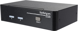 StarTech.com SV231DPUA 2 Port Professional USB DisplayPort KVM Switch with Audio