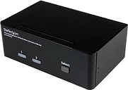 StarTech.com SV231DPDDUA 2 Port Dual DisplayPort USB KVM Switch with Audio & USB 2.0 Hub