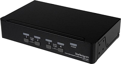 StarTech.com SV431DPUA DisplayPort KVM - 4 Port with 7.1 Audio - 2560 x 1600 @ 60Hz - USB 2.0 Hub - KVM Switch 4 Port - USB KVM - KVM DisplayPort