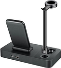 Multifunctional Wireless Fast Charging Mobile Phone Holder 3 in 1, Suitable for Mobile Phones, Watches,
