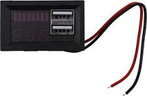 Red Led Digital Display Voltmeter Mini Voltage Meter Volt Tester Panel for Dc 12V Cars Motorcycles Vehicles Usb 5V2a Output Batt
