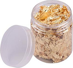 Imitation Gold Foil Flakes Metallic Foil Flakes for Resin Jewelry Making Nails Art Painting DIY Crafts Home Decoration Furniture, Gold 5g