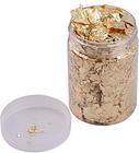 Imitation Gold Foil Flakes Metallic Foil Flakes for Resin Jewelry Making Nails Art Painting DIY Crafts Home Decoration Furniture, Gold 10g