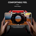 Vogue PG-9123 Telescopic Mobile Gamepad Game Joystick Applicable IOS And Android Mobile Phones With Cooling Fan
