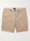 Club Monaco - Baxter Cotton-Blend Twill Shorts - Men - Neutrals