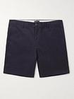 Club Monaco - Baxter Cotton-Blend Twill Shorts - Men - Blue