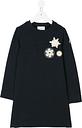 Moncler Kids knitted dress - Blue