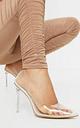 Clear Heeled Court Shoe