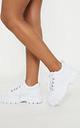 White Flatform Chunky Hiker Trainer Boot