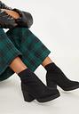 Black Platform Sock Boots, Black