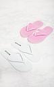 White & Pink Flip Flop 2 Pack, White