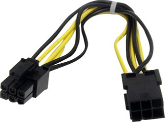 StarTech 6 pin PCI Express Power Extension Cable 0.2m Black