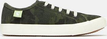 Joules Boys Coast Pump Canvas Lace Up Sneakers - GREEN CAMO