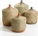 Cesto de paja de arroz al. 48 cm Louna, modelo pequeño