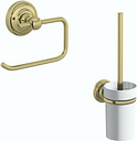 Accents 1805 gold 2 piece toilet accessory pack