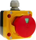 Control box with emergency stop by LAY5 series - Bematik