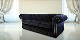Bexley 3 Seater Black Velvet Fabric Chesterfield Sofa Offer - DESIGNER SOFAS 4 U
