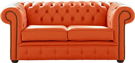 Chesterfield 2 Seater Shelly Flamenco Leather Sofa Settee