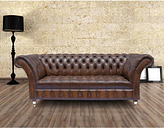 Chesterfield 3 Seater Cliveden Leather Sofa Antique Brown
