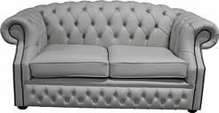 Chesterfield Buckingham 2 Seater Shelly Seely Leather Sofa Offer - DESIGNER SOFAS 4 U