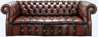 Chesterfield Darcy 3 Seater Antique Light Rust Leather Sofa Offer - DESIGNER SOFAS 4 U