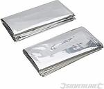 Emergency Blanket 2pk 1m x 2m 226306 - Silverline