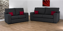 New York 3 + 2 Fabric Sofa - DESIGNER SOFAS 4 U