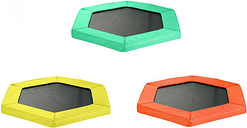 Safety Pad for 127cm 50' Hexagonal Rebounder Mini Trampoline - Pantone Oxford Yellow