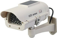 614458 Solar-Powered Dummy CCTV Camera with LED Solar-Powered - Silverline