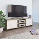 Vidaxl - TV Cabinet 120x30x37.5 cm Chipboard White and Sonoma Oak