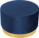 Velvet Footstool Ottoman Stool Seat Dressing Table Stool Footrest Blue - LIVINGANDHOME