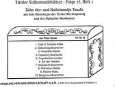 Tiroler Volksmusikblätter 15/1