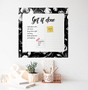 Get It Done Dry Erase Wall Planner