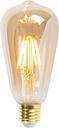 Set de 5 bombilla filamento LED regulables E27 ST64 goldline 5W 360lm 2200K