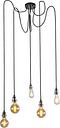 Lámpara colgante moderna cromo - CAVA 5