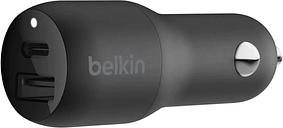 Belkin BOOSTCHARGE Dual Car Charger - 18W USB-C & 12W USB-A