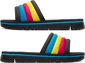 Camper Twins, Sandals Women, Black/Yellow/Blue, Size 9 (US), K200905-001