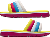 Camper Twins, Sandals Women, Yellow/Blue/Pink, Size 11 (US), K200905-002