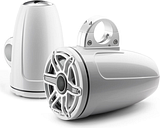 """JL Audio M-Series 7.7"""" Gloss White Enclosed Tower Coaxial System"""