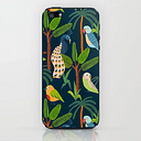 Jungle Birds Iphone Skin by Ambers Textiles - iPhone (5, 5s)