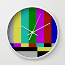 Static Tv Wall Clock by For Pete's Sake - White - White